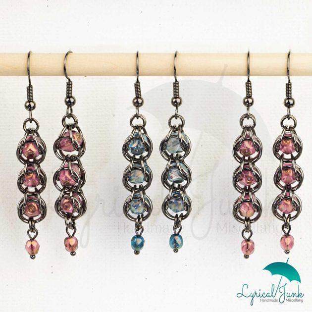 Captive Czech glass earrings
