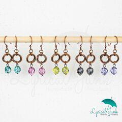Czech glass mobius earrings