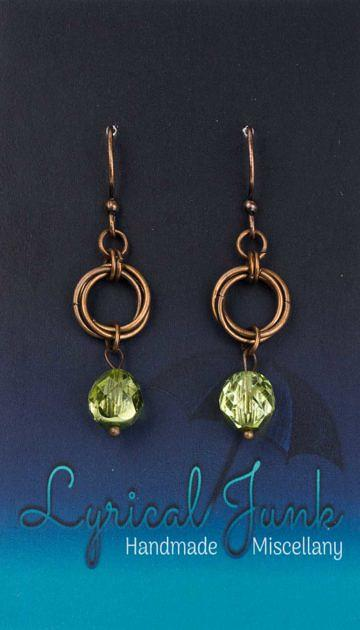 Czechglassmobiusearrings_green