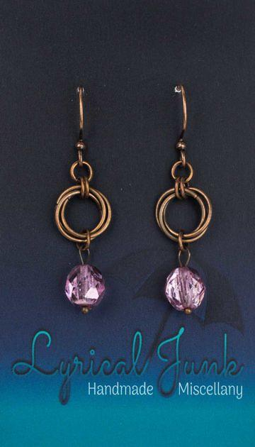 Czechglassmobiusearrings_pink
