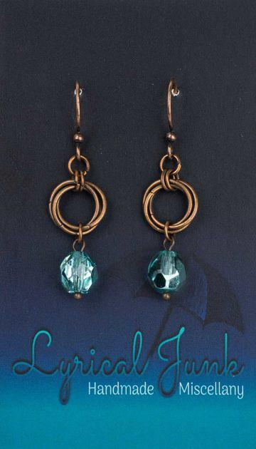 Czechglassmobiusearrings_turquoise