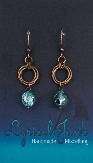 Czechglassmobiusearrings_turquoise