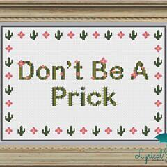 Don't Be A Prick_framedviewlogo