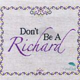 Don't Be A Richard_stitched view logo