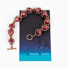 Matte red captive bead bracelet light