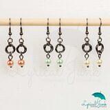 Pearl möbius earrings