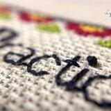 Purl-fect backstitching closeup