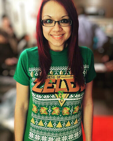 Zelda shirt portrait